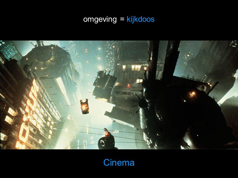Cinema omgeving = kijkdoos