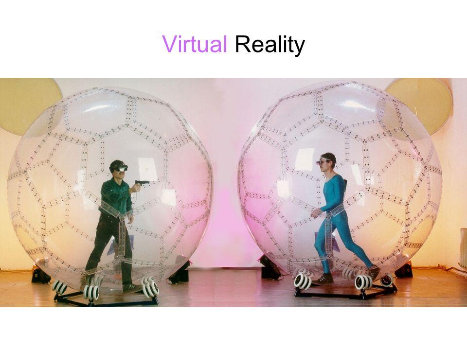 Virtual Reality Voorbeelden van virtual realities.