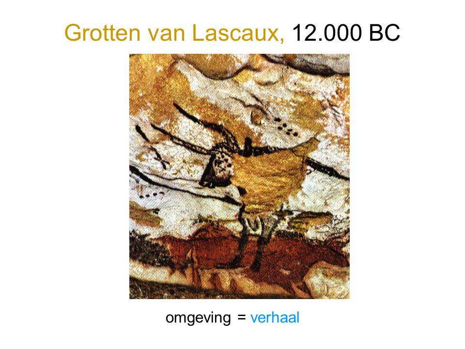 Grotten van Lascaux, 12.000 BC omgeving = verhaal
