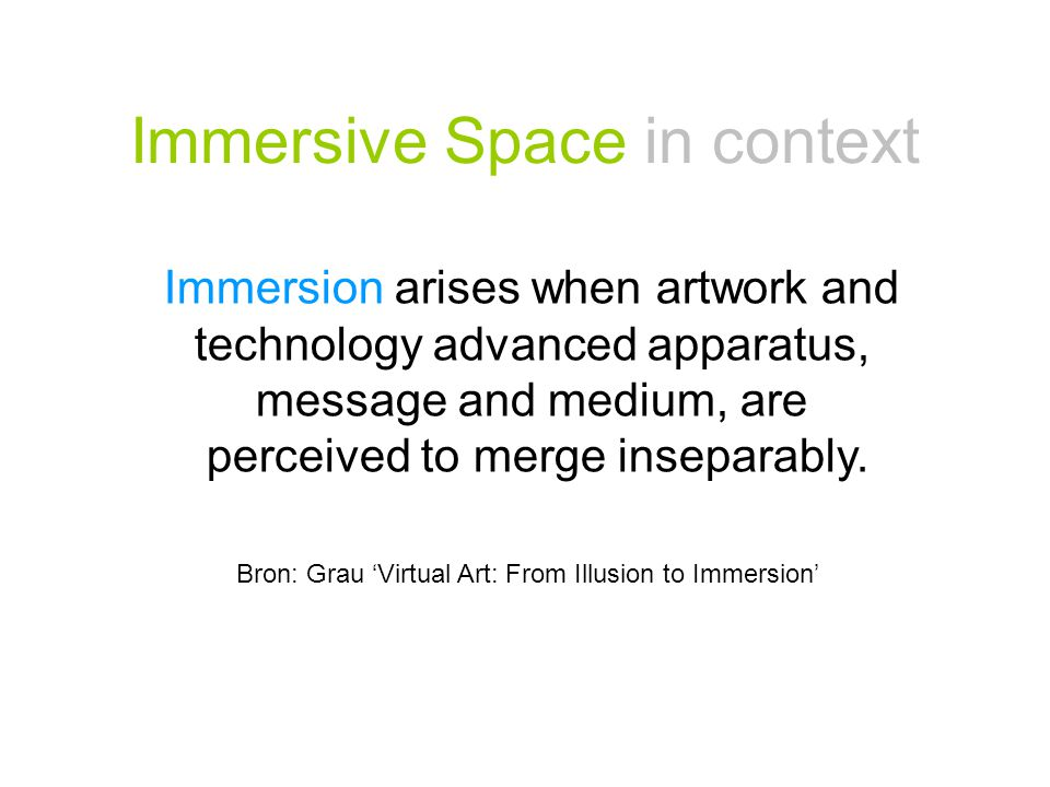 Immersive Space in context