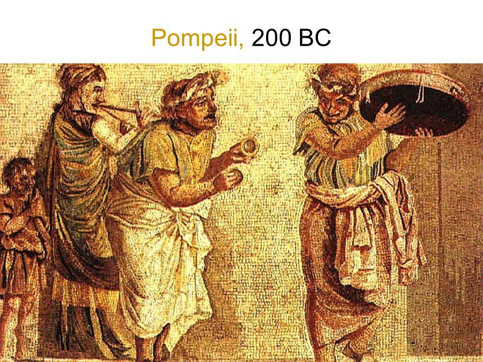 Pompeii, 200 BC In Pompeï perspectief toegepast voor ruimtelijk effect.