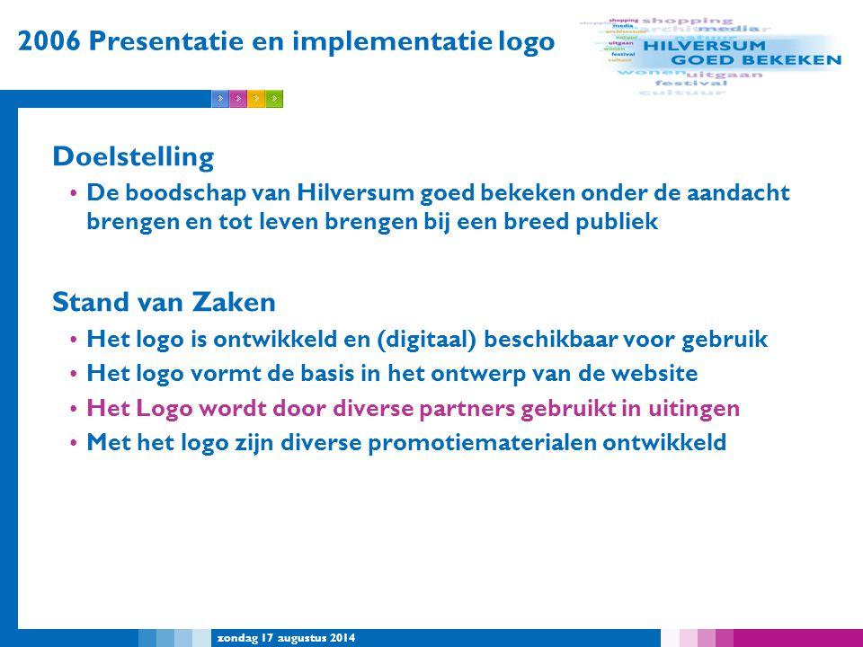 2006 Presentatie en implementatie logo