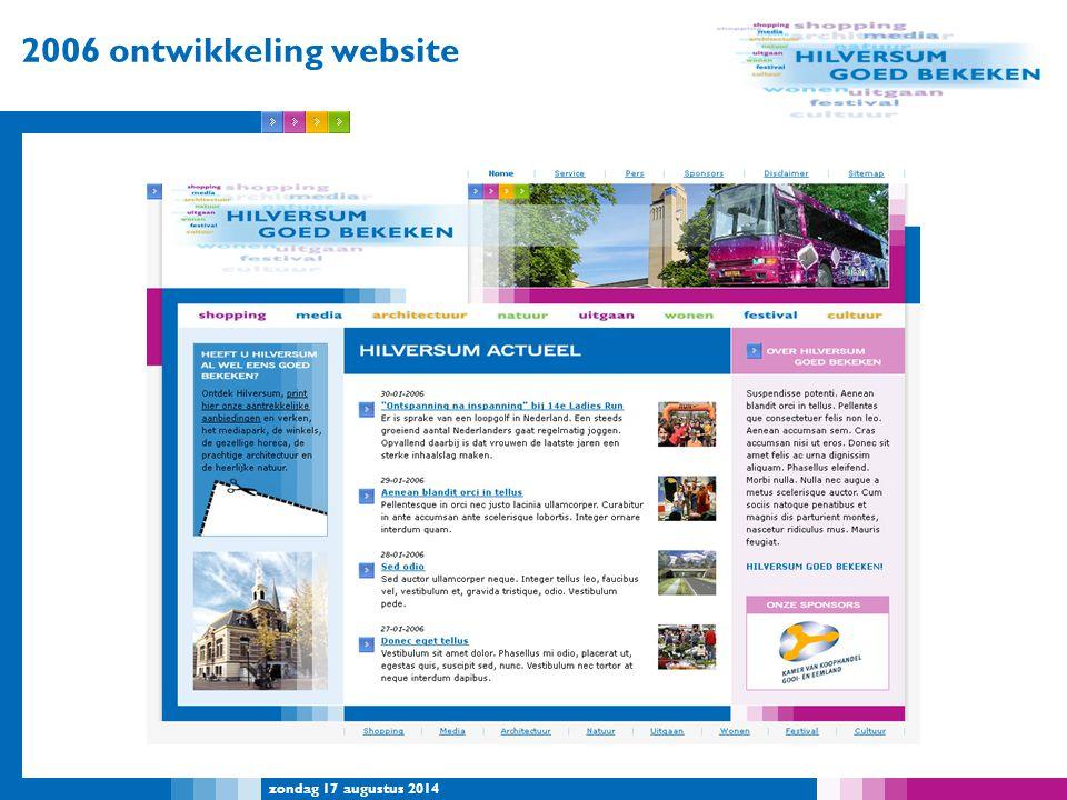 2006 ontwikkeling website woensdag 5 april 2017