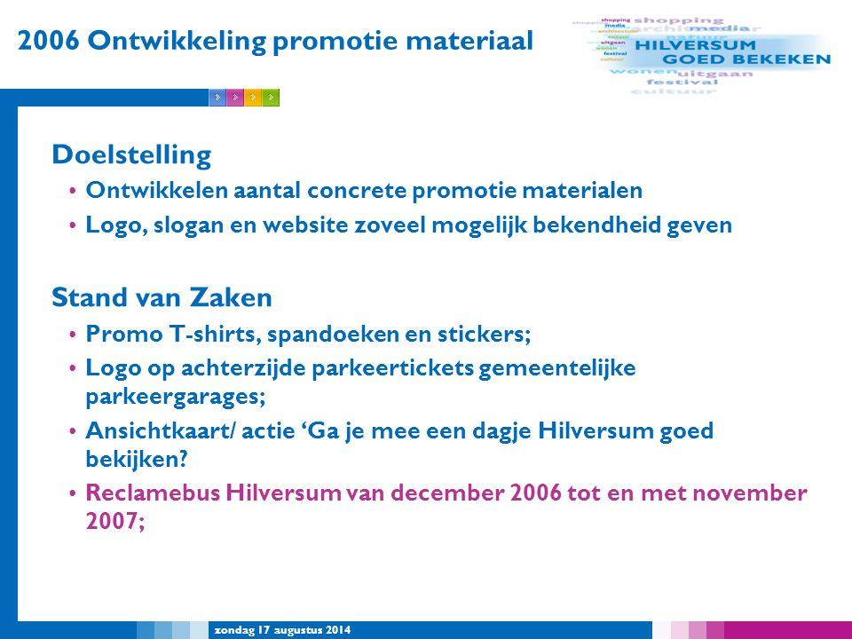 2006 Ontwikkeling promotie materiaal