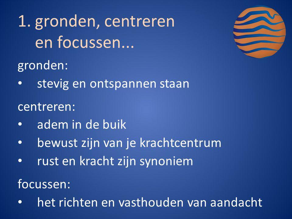 gronden, centreren en focussen...