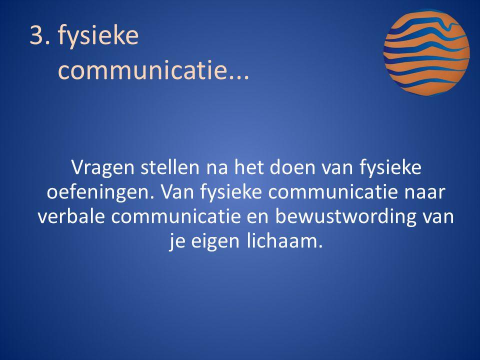 fysieke communicatie...