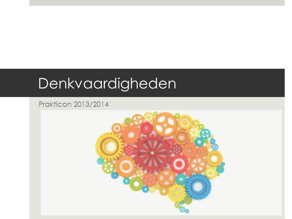 Denkvaardigheden Prakticon 2013/2014