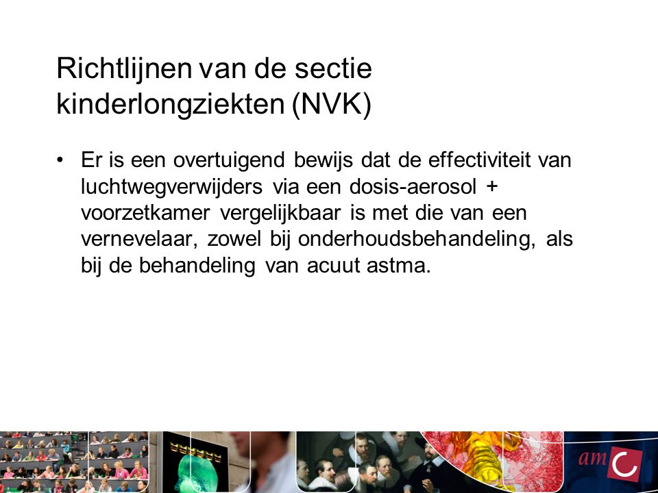 Richtlijnen van de sectie kinderlongziekten (NVK)