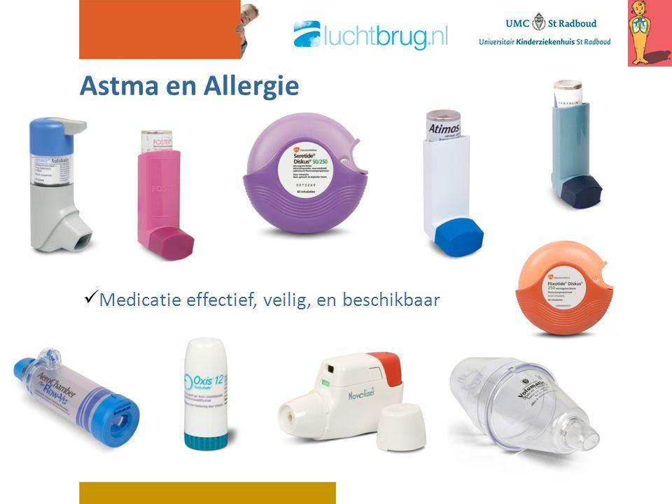 Astma en Allergie Medicatie effectief, veilig, en beschikbaar
