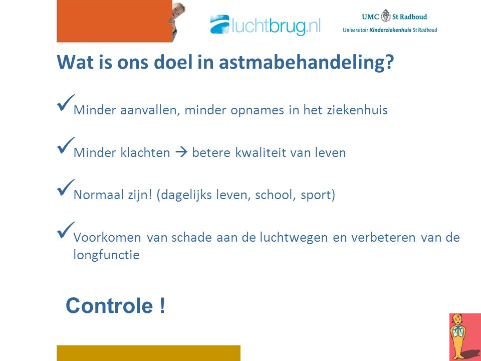 Wat is ons doel in astmabehandeling