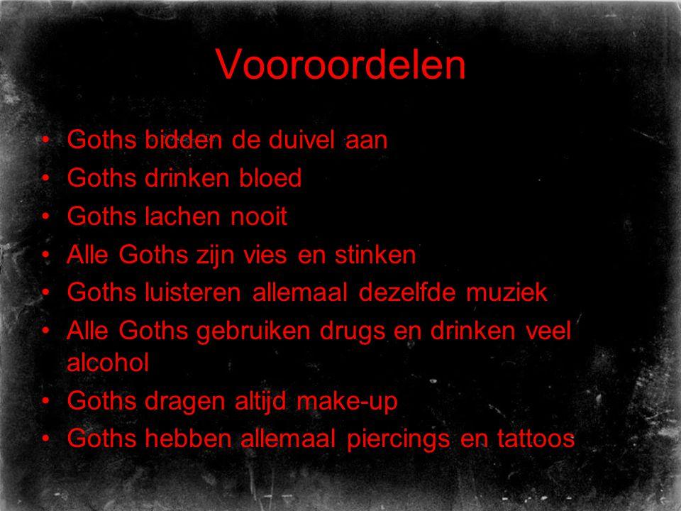 Vooroordelen Goths bidden de duivel aan Goths drinken bloed
