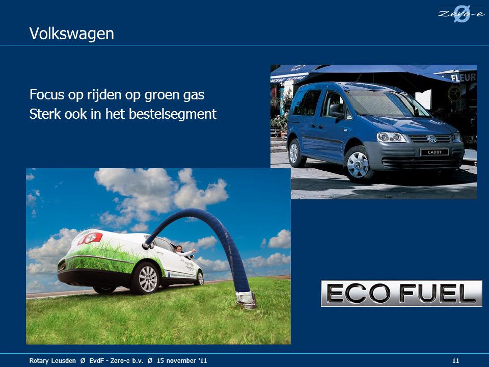 Volkswagen Focus op rijden op groen gas Sterk ook in het bestelsegment