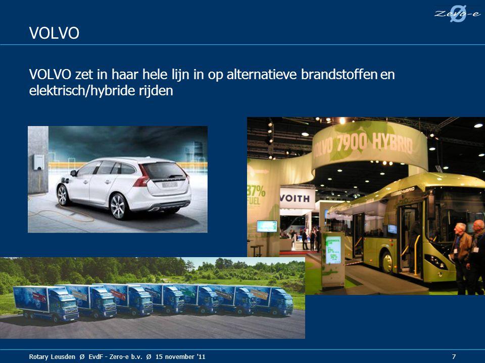 VOLVO VOLVO zet in haar hele lijn in op alternatieve brandstoffen en elektrisch/hybride rijden.