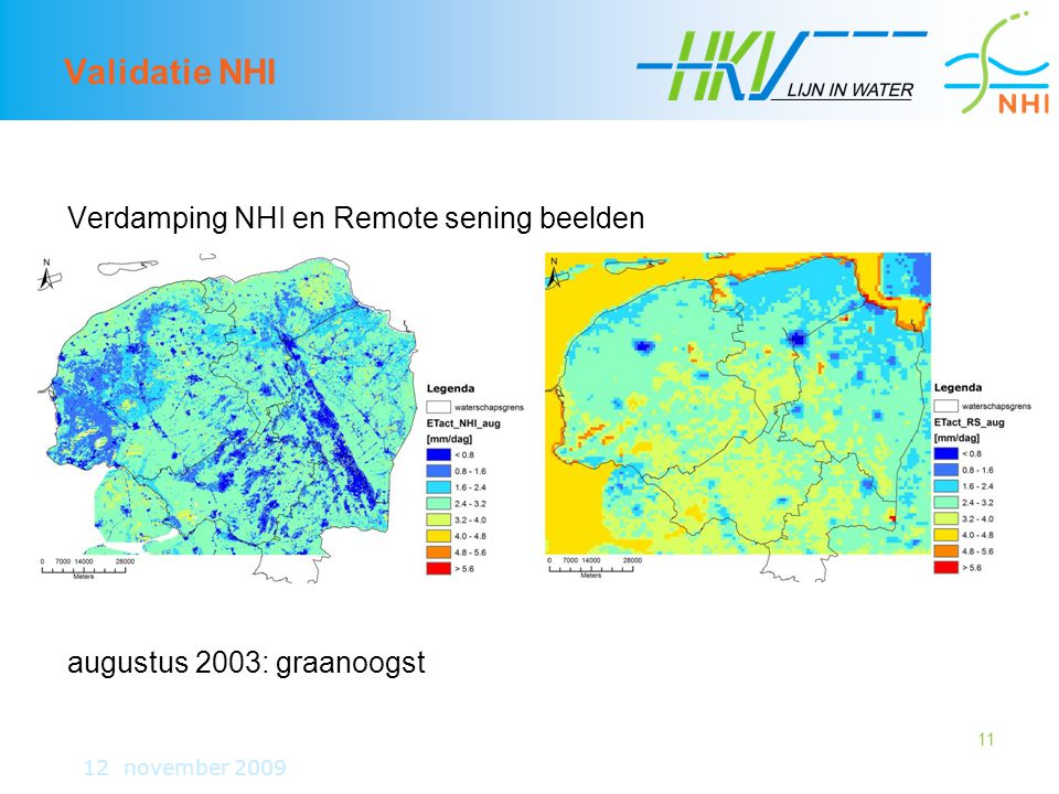 Validatie NHI Verdamping NHI en Remote sening beelden