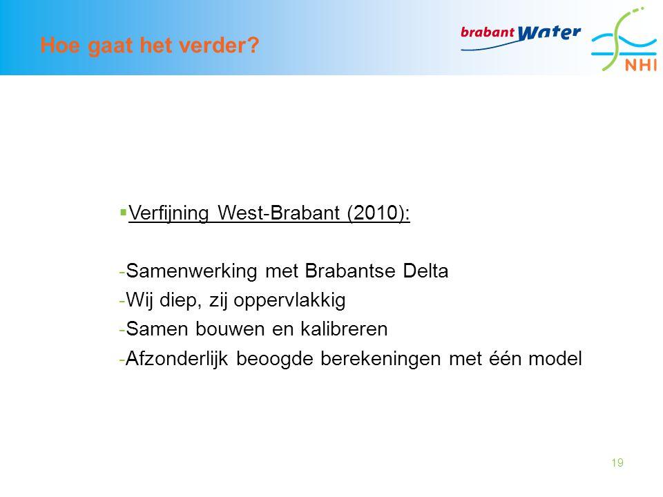 Hoe gaat het verder Verfijning West-Brabant (2010):