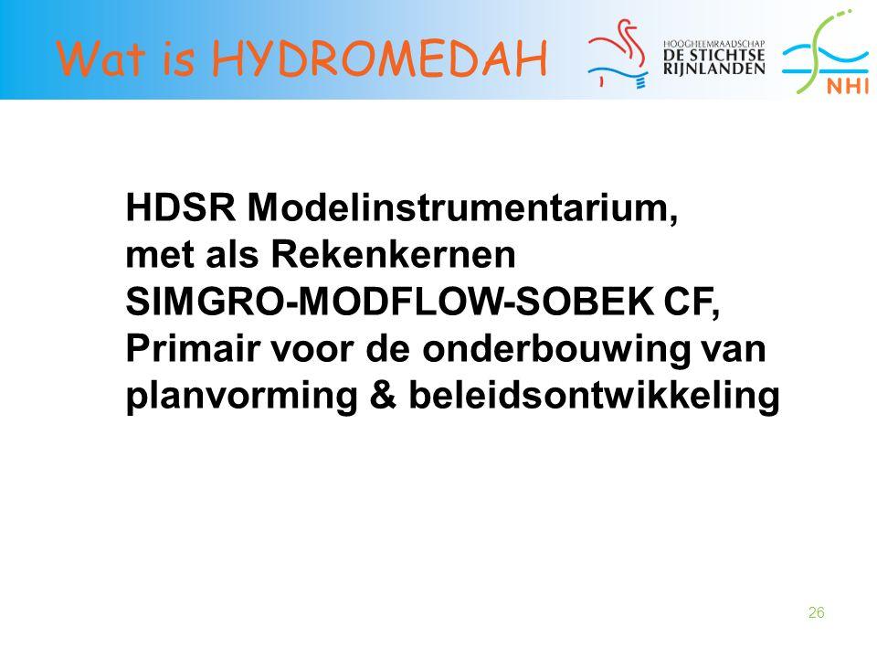 Wat is HYDROMEDAH HDSR Modelinstrumentarium, met als Rekenkernen