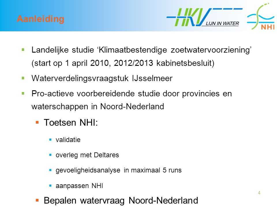 Bepalen watervraag Noord-Nederland