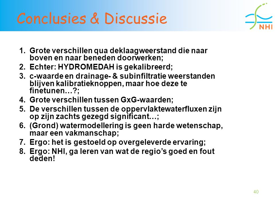 Conclusies & Discussie