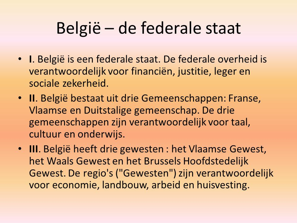 België – de federale staat