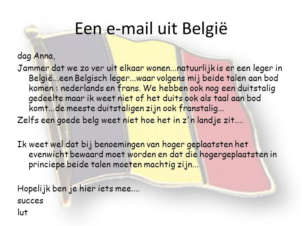 Een e-mail uit België dag Anna,