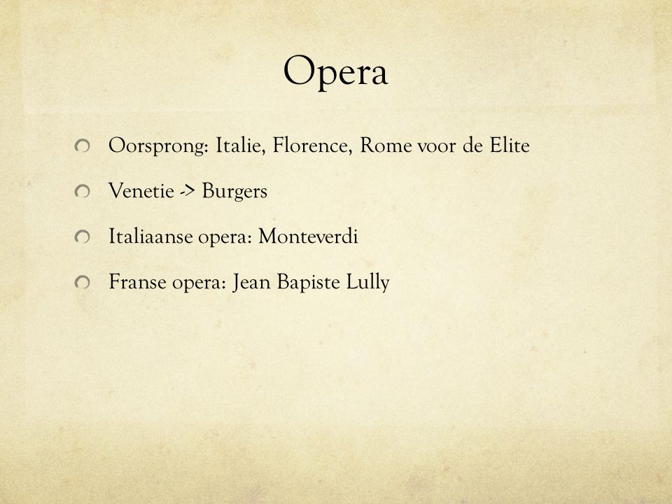 Opera Oorsprong: Italie, Florence, Rome voor de Elite