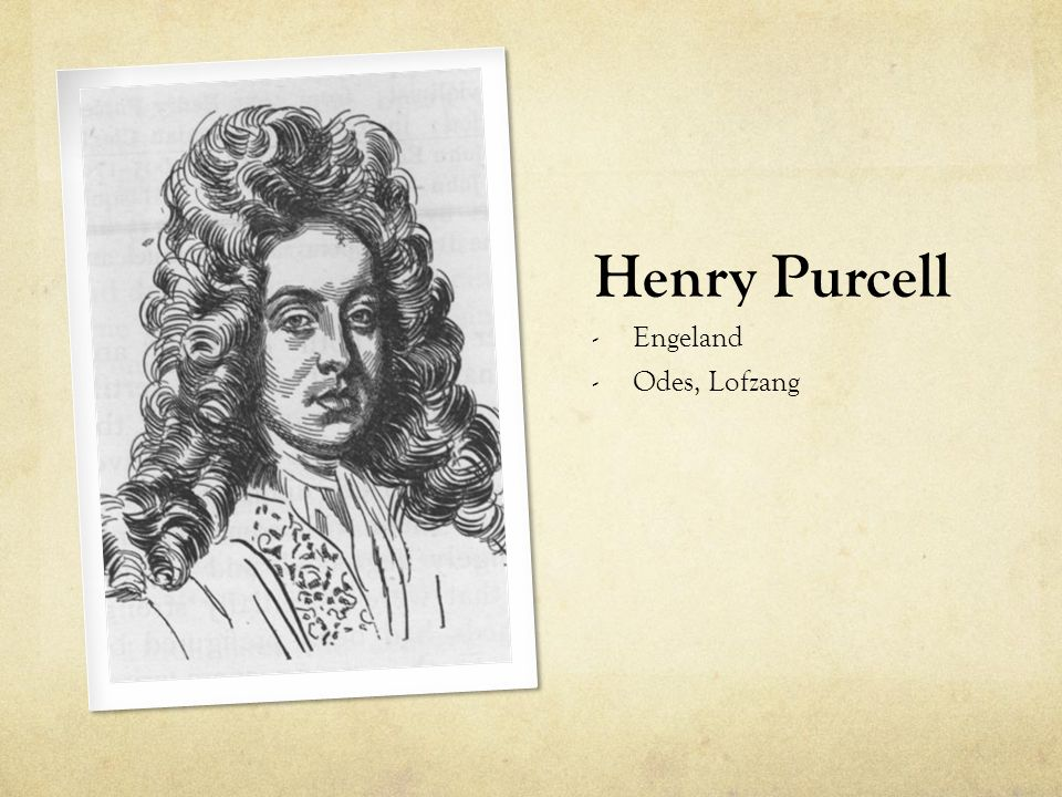 Henry Purcell Engeland Odes, Lofzang