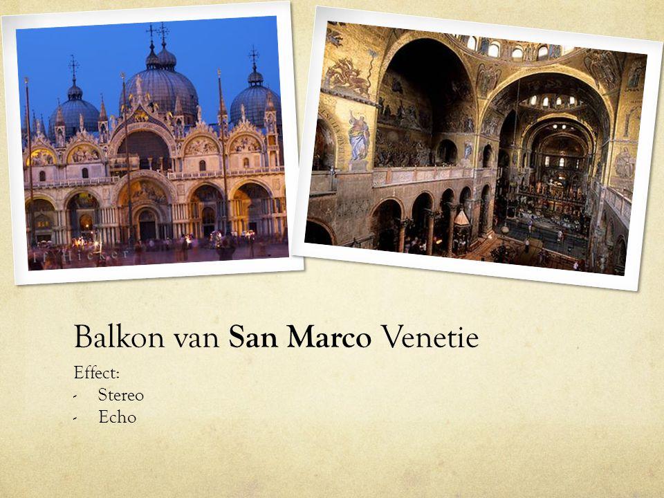 Balkon van San Marco Venetie