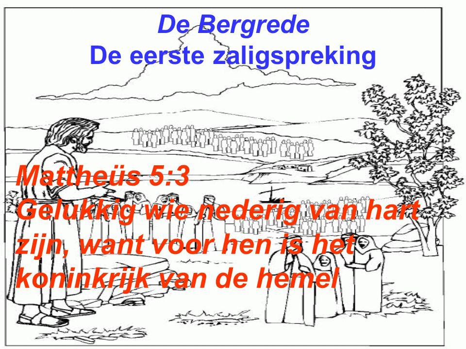 De Bergrede De eerste zaligspreking