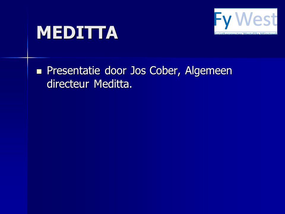 MEDITTA Presentatie door Jos Cober, Algemeen directeur Meditta.
