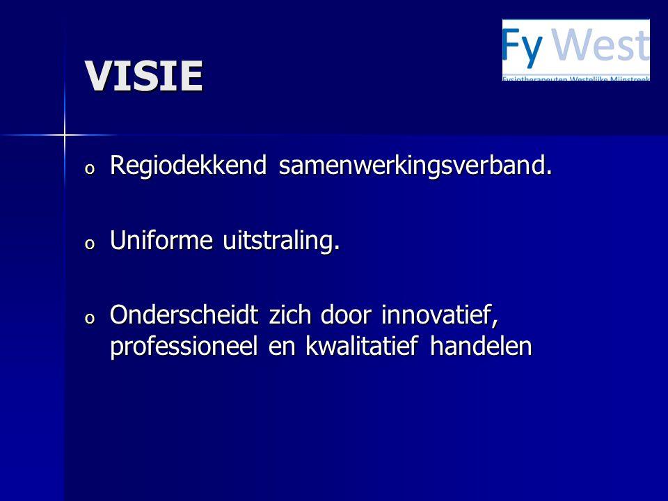 VISIE Regiodekkend samenwerkingsverband. Uniforme uitstraling.