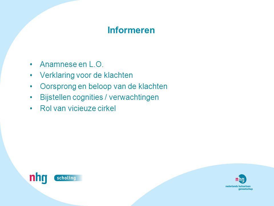 Informeren Anamnese en L.O. Verklaring voor de klachten