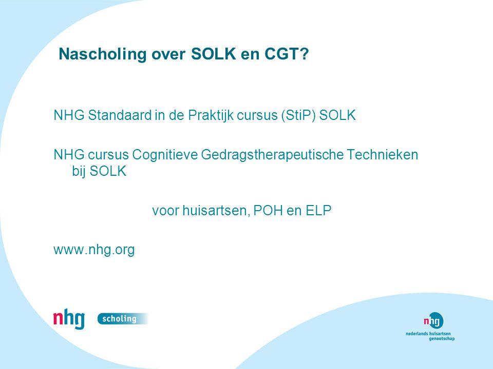 Nascholing over SOLK en CGT
