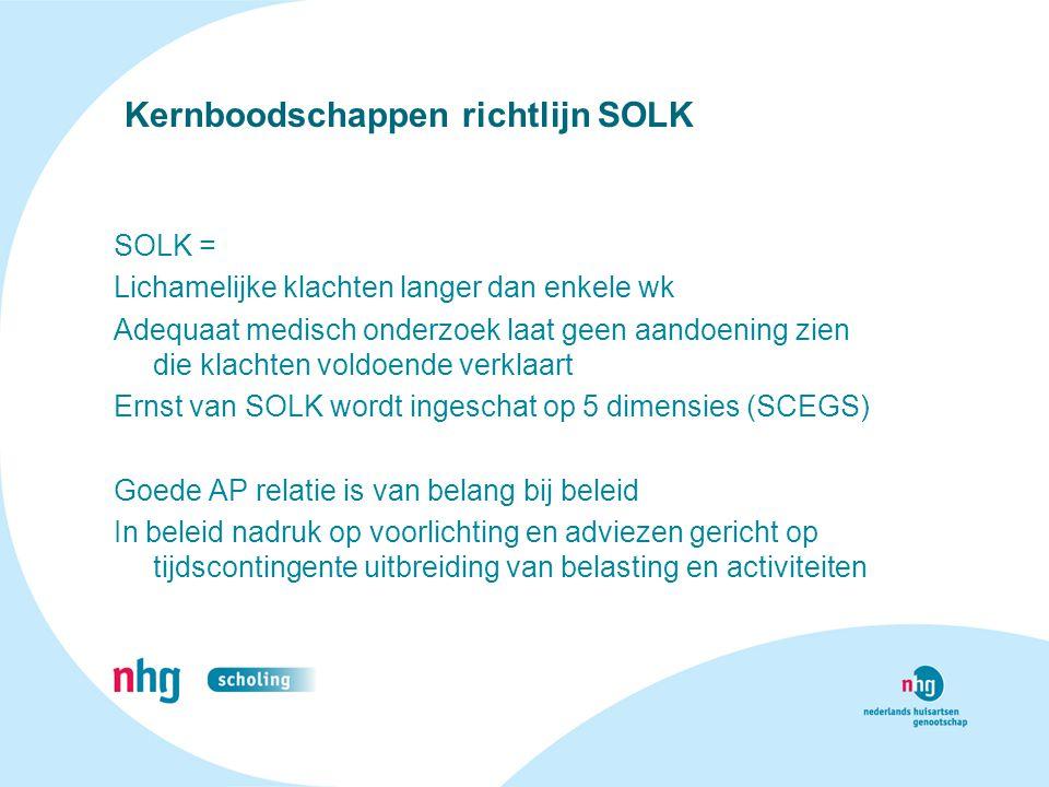 Kernboodschappen richtlijn SOLK
