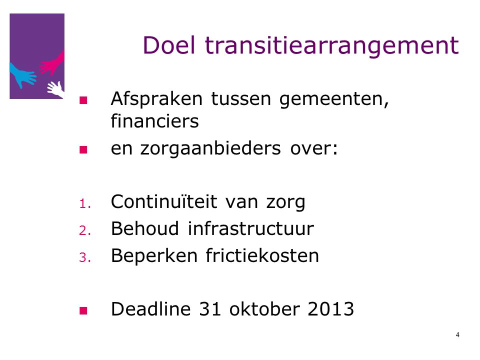 Doel transitiearrangement