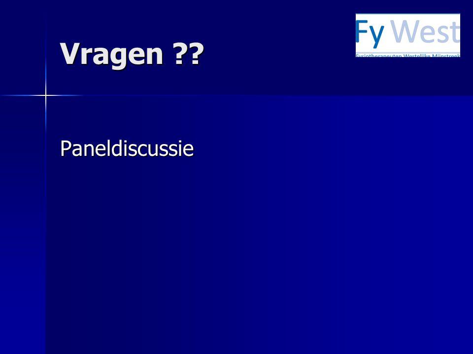 Vragen Paneldiscussie