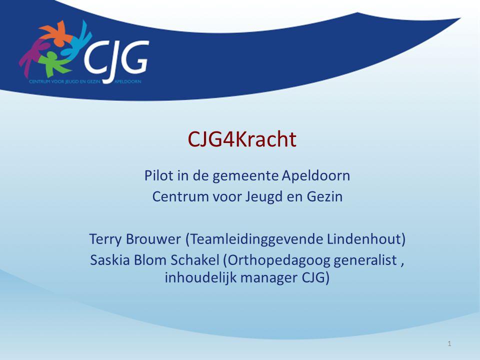 CJG4Kracht Pilot in de gemeente Apeldoorn Centrum voor Jeugd en Gezin