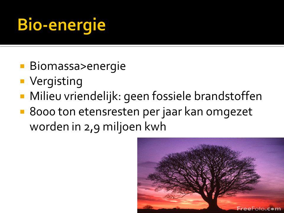 Bio-energie Biomassa>energie Vergisting