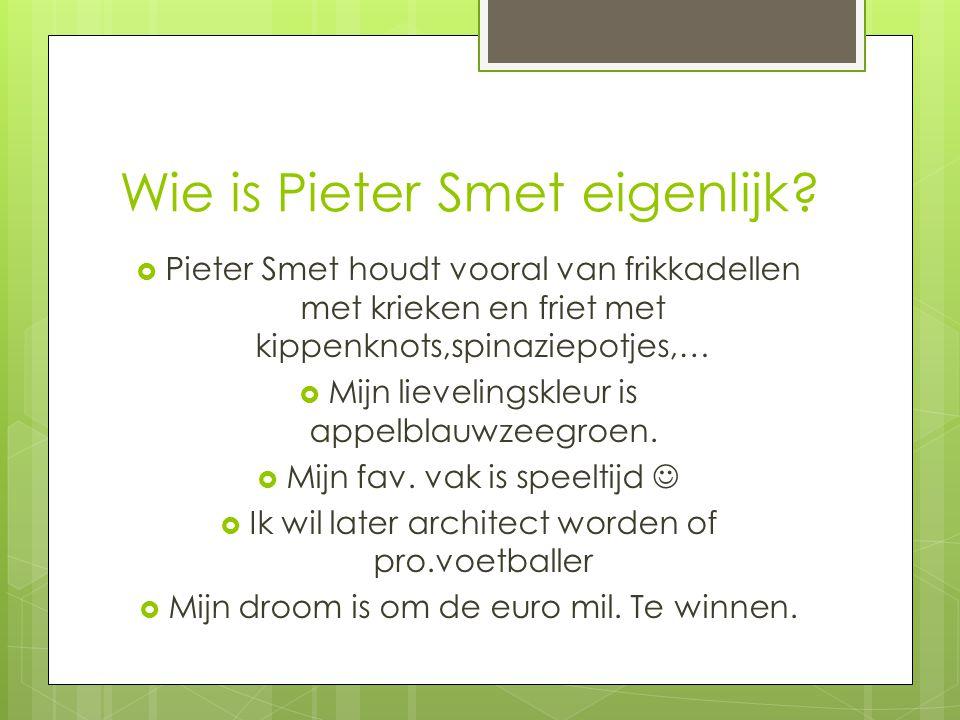 Wie is Pieter Smet eigenlijk