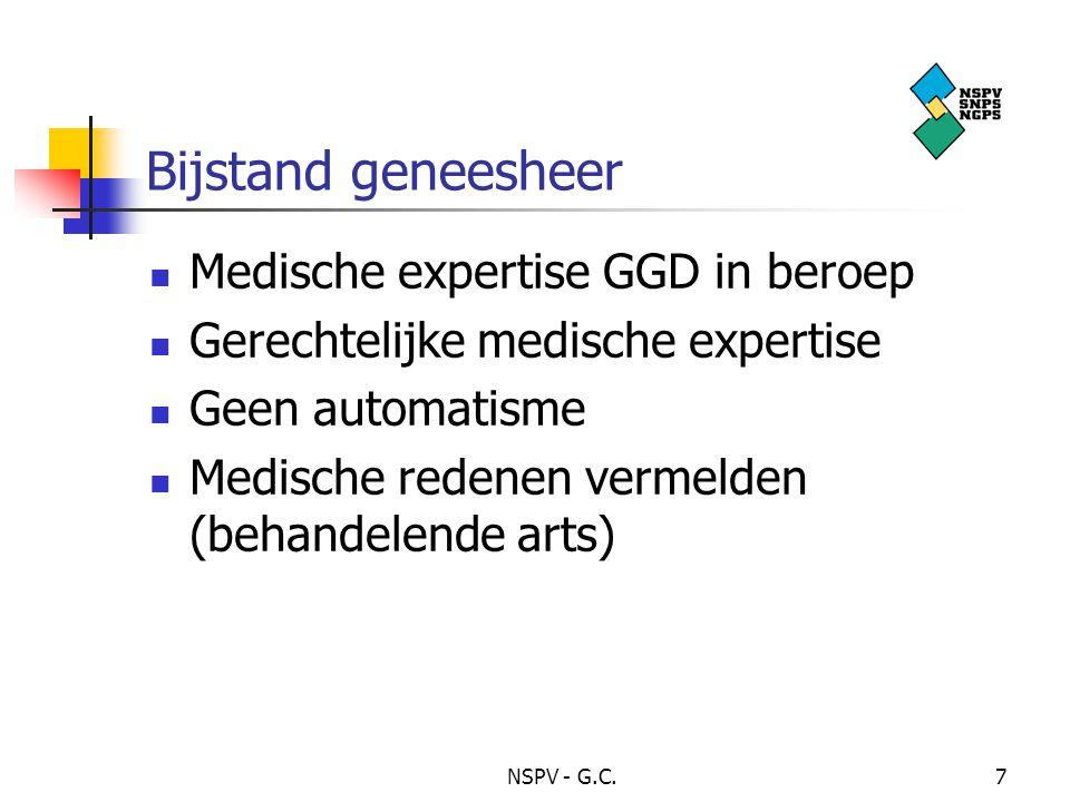 Bijstand geneesheer Medische expertise GGD in beroep