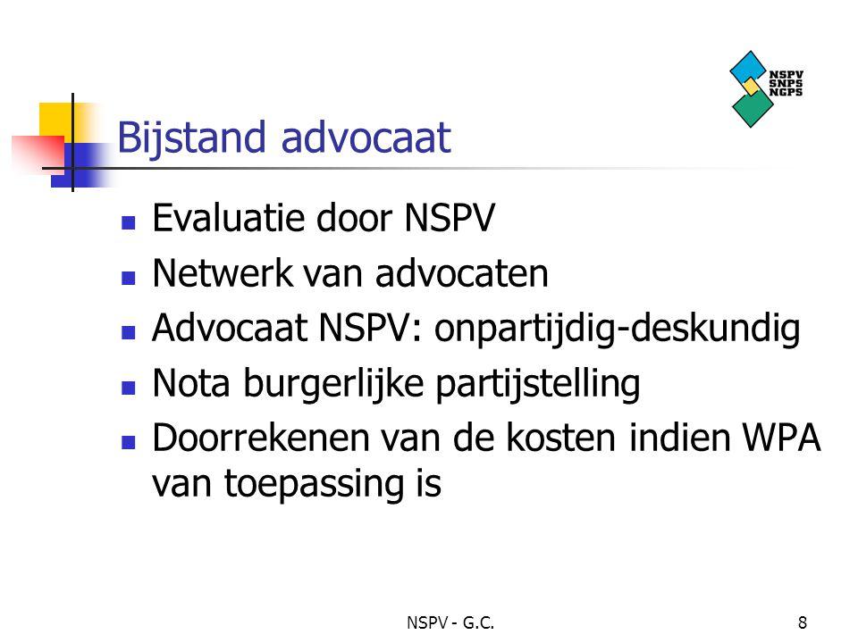 Bijstand advocaat Evaluatie door NSPV Netwerk van advocaten