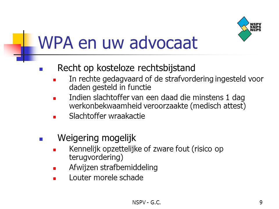WPA en uw advocaat Recht op kosteloze rechtsbijstand