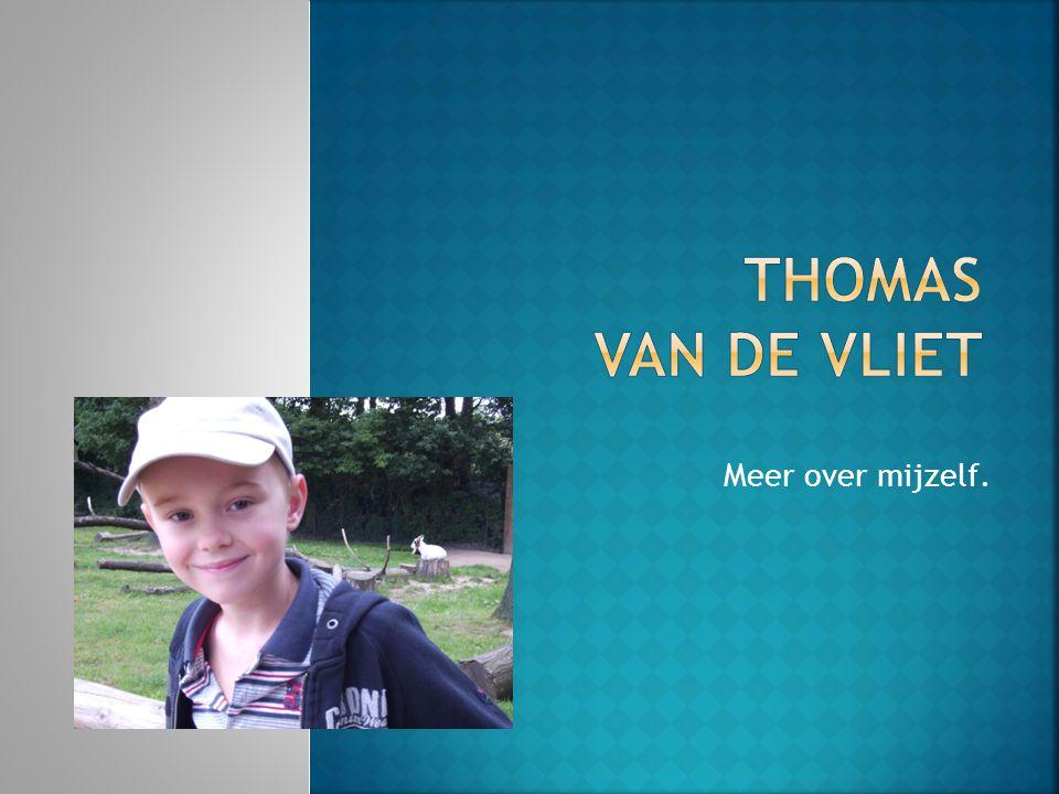 Thomas van de vliet Meer over mijzelf.