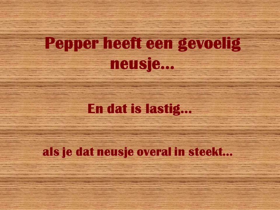 Pepper heeft een gevoelig neusje…