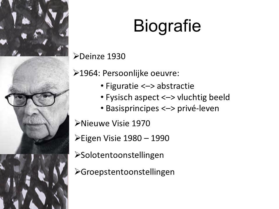 Biografie Deinze 1930 1964: Persoonlijke oeuvre: