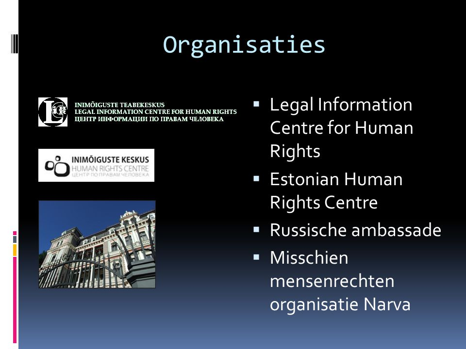 Organisaties Legal Information Centre for Human Rights