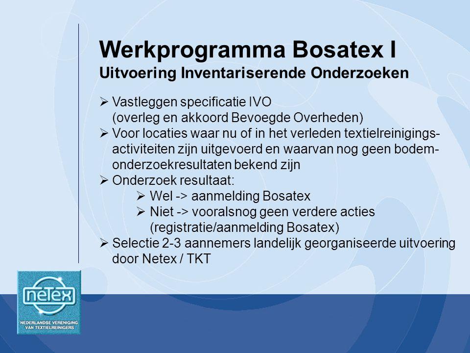 Werkprogramma Bosatex I Uitvoering Inventariserende Onderzoeken