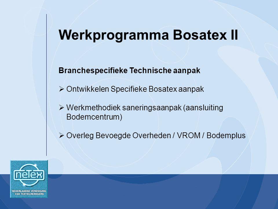 Werkprogramma Bosatex II