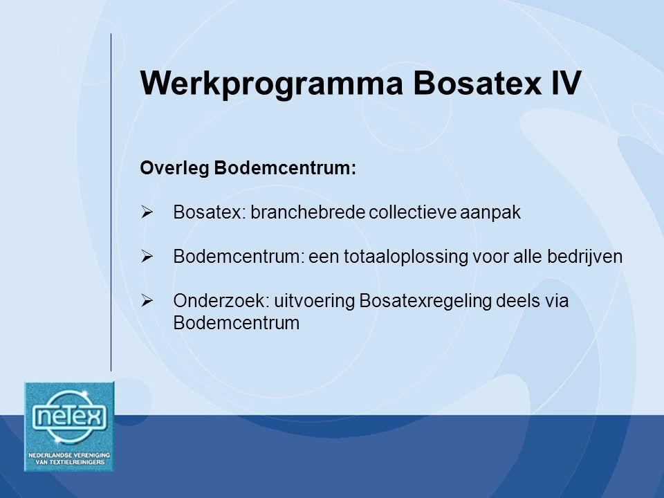 Werkprogramma Bosatex IV