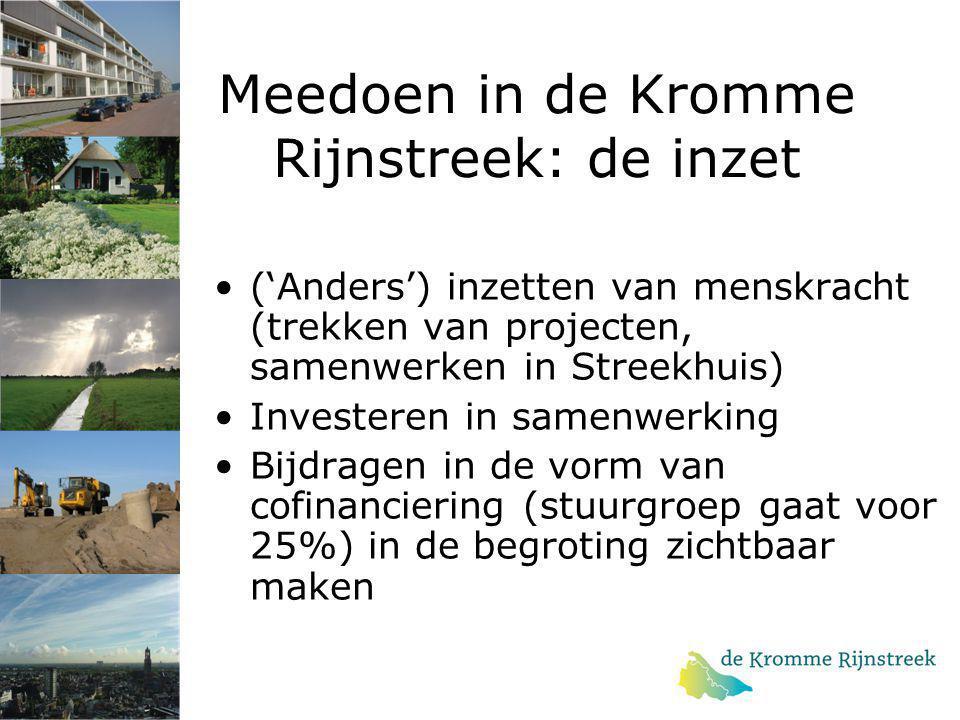 Meedoen in de Kromme Rijnstreek: de inzet