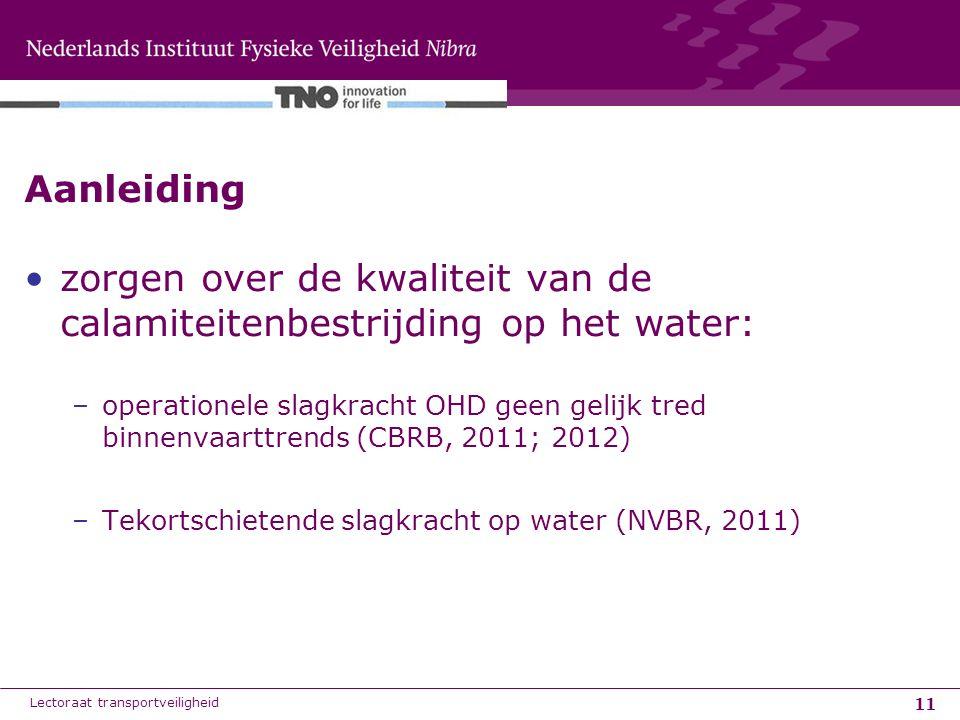 zorgen over de kwaliteit van de calamiteitenbestrijding op het water: